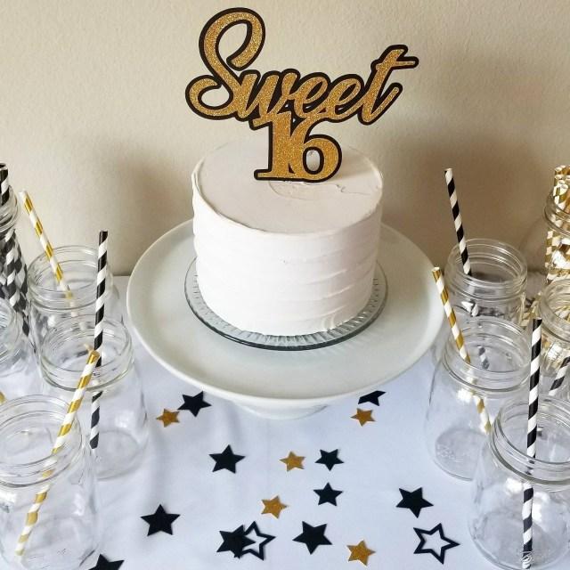 Sweet 16 Birthday Cake Sweet 16 Cake Topper 16th Birthday Cake Topper 16th Etsy