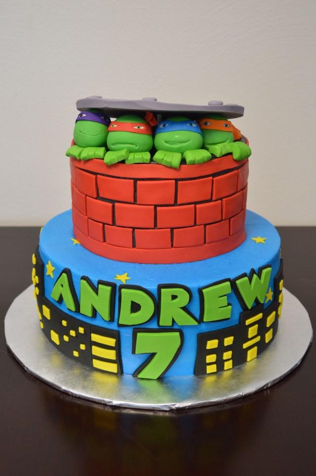Teenage Mutant Ninja Turtles Birthday Cake Teenage Mutant Ninja Turtles Cake My Cakes Pinterest Ninja