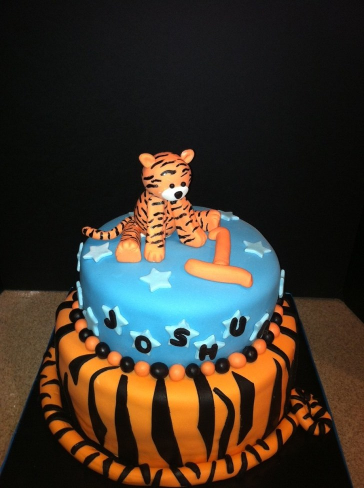 34+ Wonderful Image of Tiger Birthday Cake