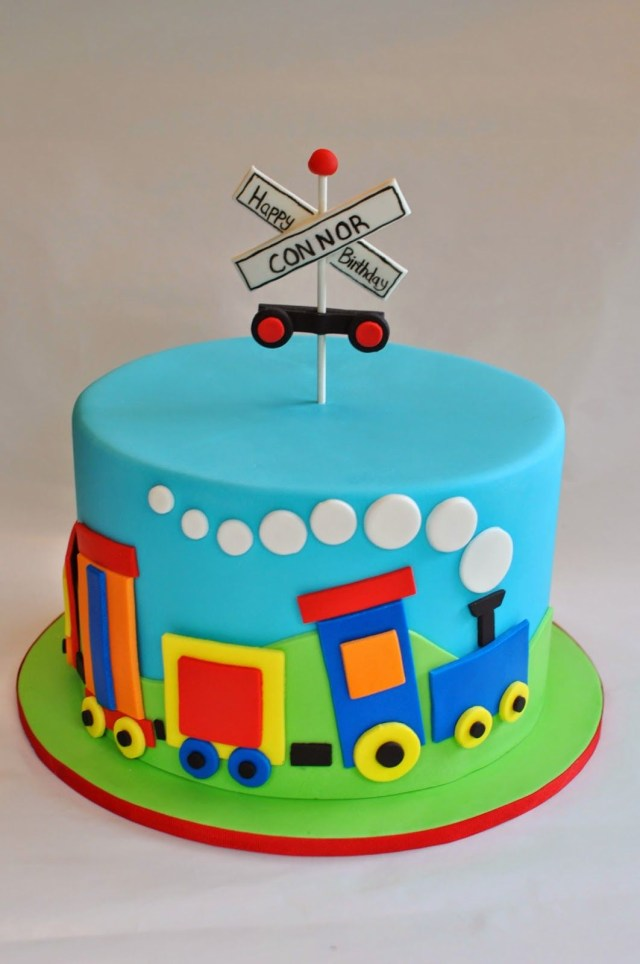 Train Birthday Cakes Train Cake Hopes Sweet Cakes Hopessweetcakes Hopes Sweet
