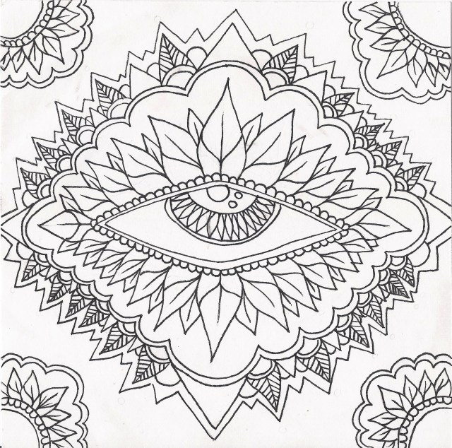 Trippy Coloring Pages Psychedelic Coloring Pages Print At Getdrawings Free For