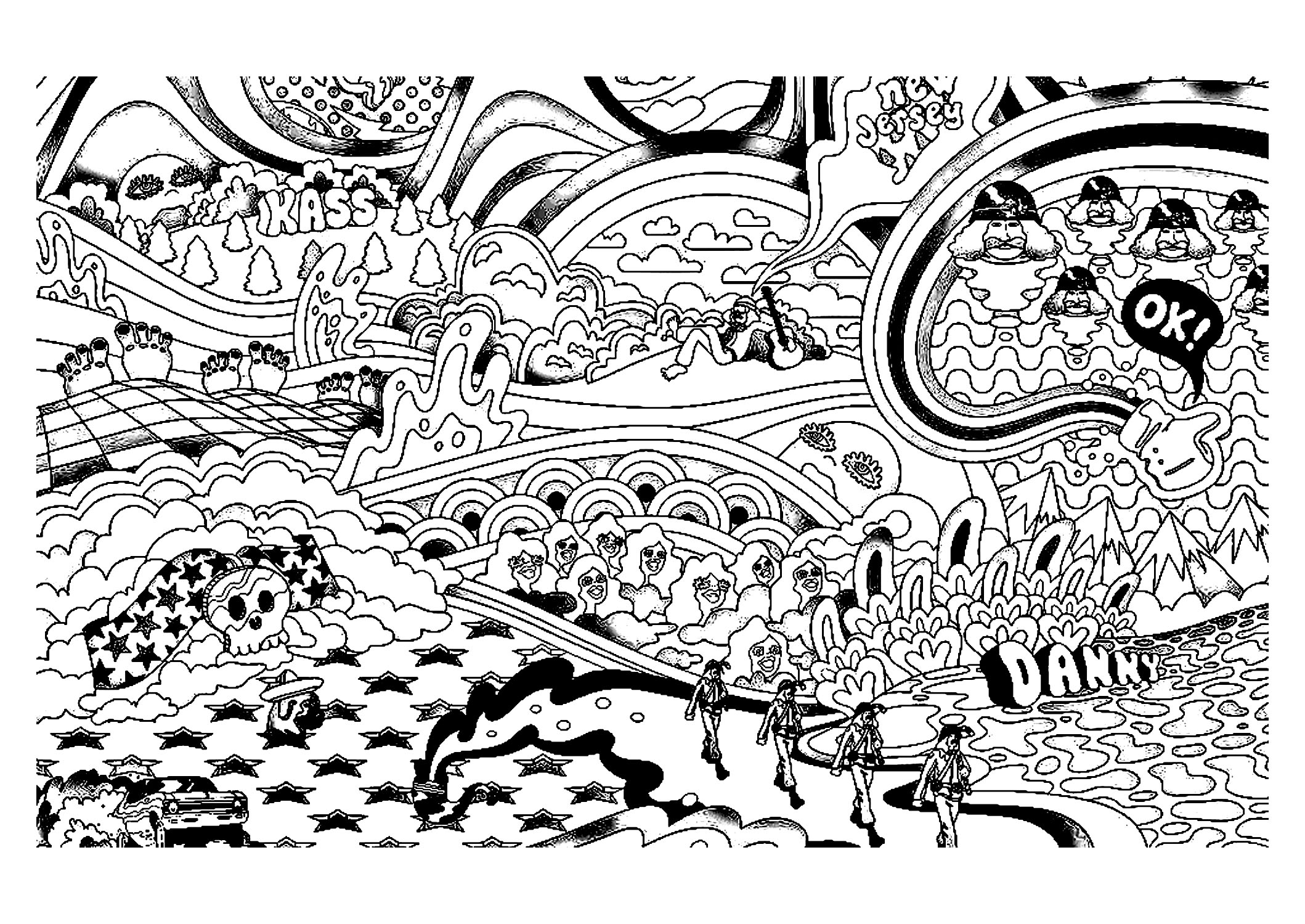 Trippy Coloring Pages Psychedelic Sun Coloring Pages
