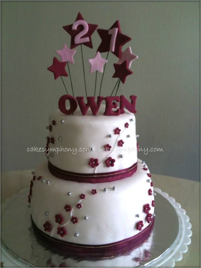 Two Tier Birthday Cake Pic Of 2 Layered 12 Year Birthday Cakes Two Tier 21st Birthday