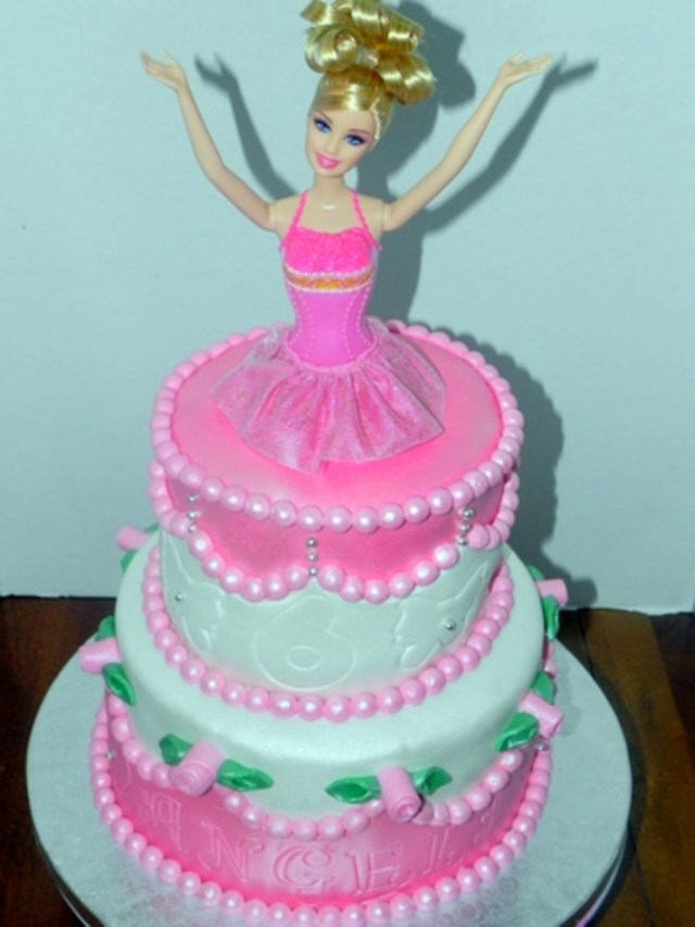 Two Tier Birthday Cake Two Tier Barbie Cake Cakecentral