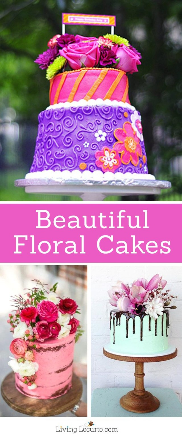 Unusual Birthday Cakes Beautiful Floral Pretty Cake Ideas