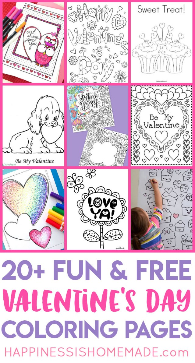 Valentine Coloring Pages To Print Valentines Coloring Pages Happiness Is Homemade