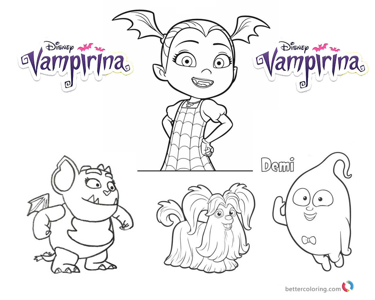 Vampirina coloring pages vampirina coloring pages vampirina and cute characters free