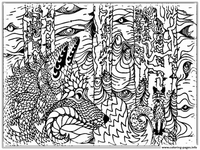 Wolf Coloring Pages For Adults Adult Wolf Coloring Pages 5 Futurama