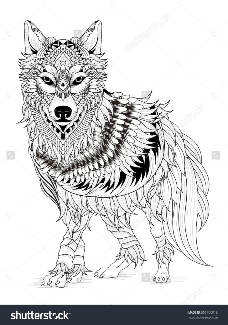 Exclusive Picture of Wolf Coloring Pages For Adults
