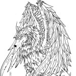 Wolf Coloring Pages For Adults Coloring Page Coloring Page Wolf Pages For Adults Detailed