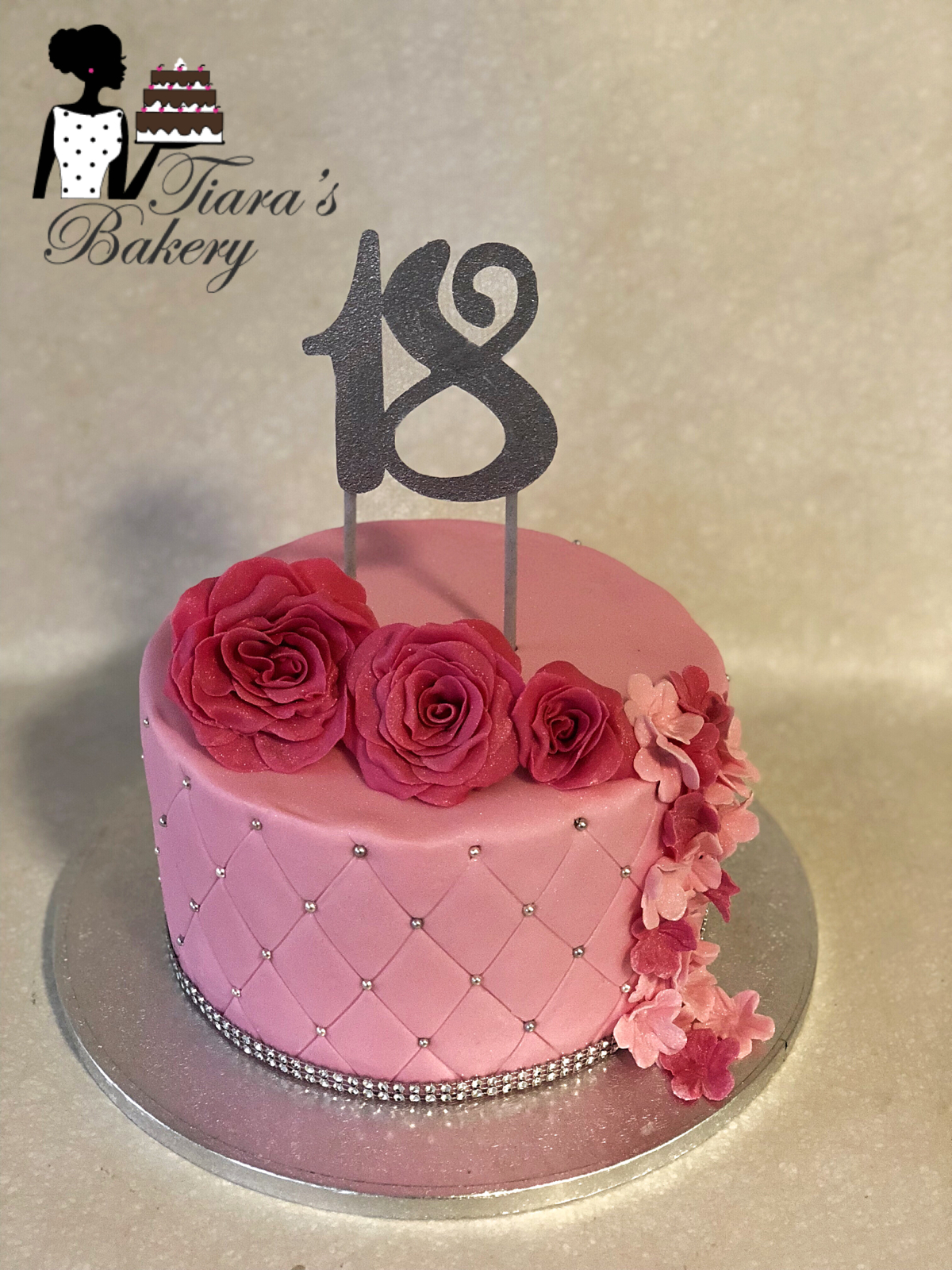 Woman Birthday Cake 18th For Flower