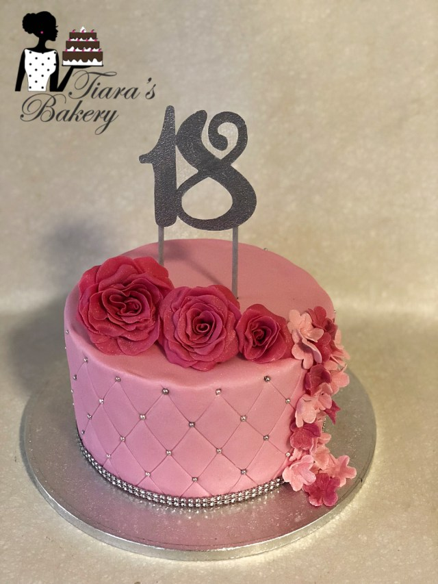 Woman Birthday Cake 18th Birthday Cake Birthday Cake Cake For Woman Flower Cake
