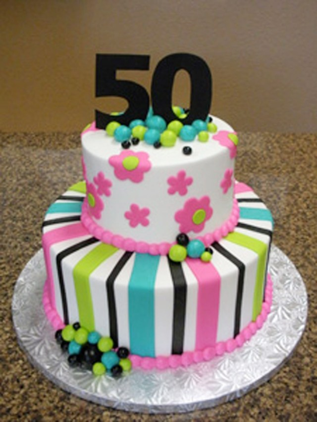 Women's Birthday Cake Ideas 9 Women 50th Birthday Cakes Birthday Photo 50th Birthday Cake