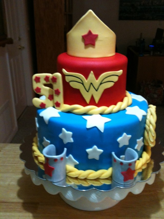 Wonder Woman Birthday Cake My Wonder Woman Birthday Cake Cakecentral