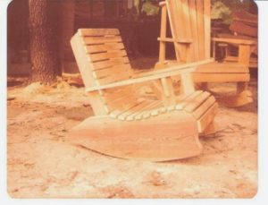 Hand crafted adirondack rocking chair