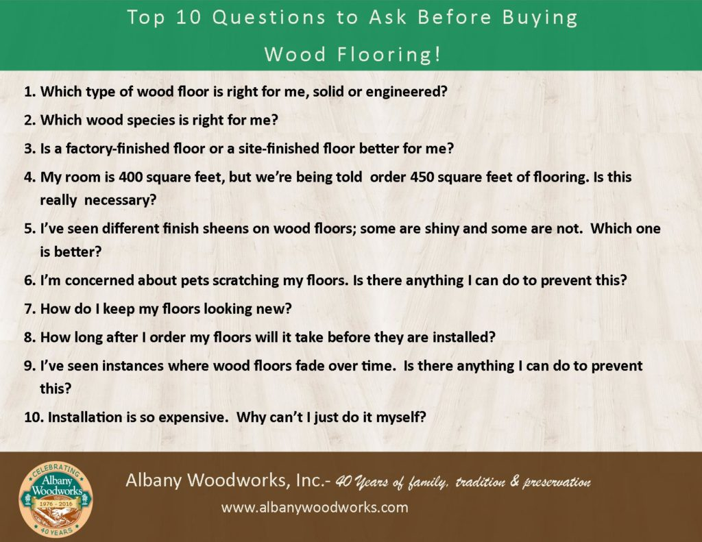 Questions for Buying Wood Flooring