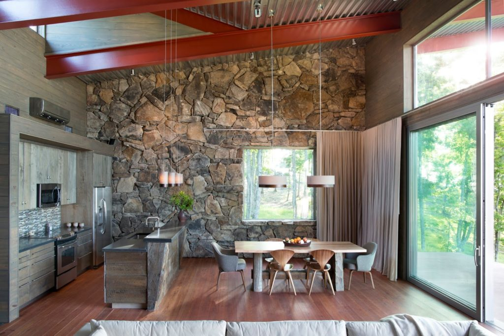 Reclaimed wood accent wall Tennessee