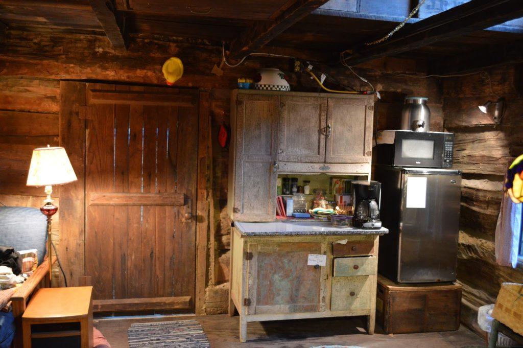 rustic wood log cabin