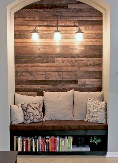 Dirty Top Wood Accent Wall