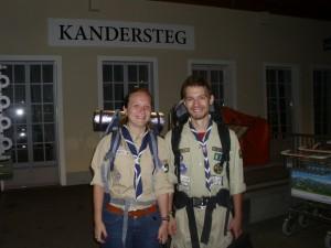 Ajunși în Kandersteg (credit: Caro Kaunisaho, Finlanda)