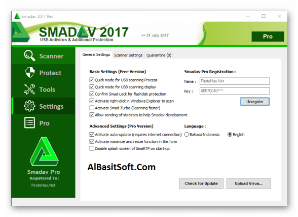 Smadav Pro 2018 11.9.1 Setup With key Free Download(Albasitsoft.com)