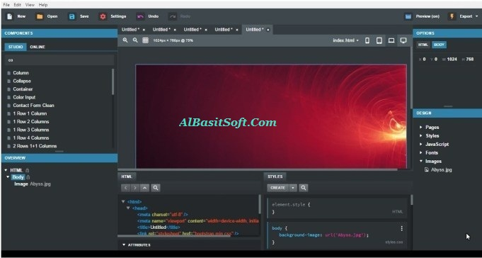 Bootstrap Studio 4.1.2 With Crack [Pre – Activated] Free Download(AlBasitSoft.Com)