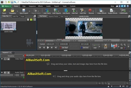 NCH VideoPad Video Editor Professional 7.51 With Crack(AlBasitSoft.Com)