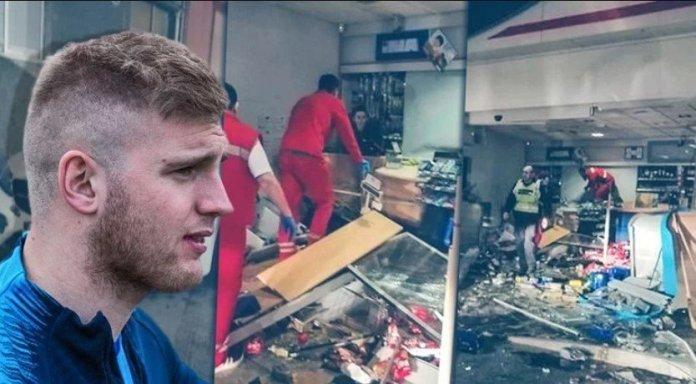 Futbollisti kroat shkatërron një dyqan me makinën e tij për shkak të një çokolate (FOTO)