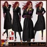 ALB IRMI coat & gloves & stiletto heels to SLink high