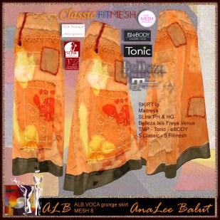 ALB VOCA grunge skirt 8