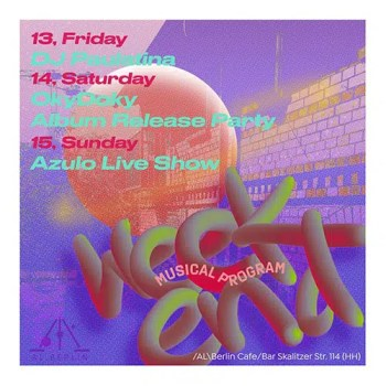 August 2nd Weekend Musical Program in AL Cafe Bar