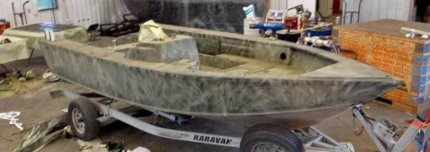 Boat with Polyurea Coating