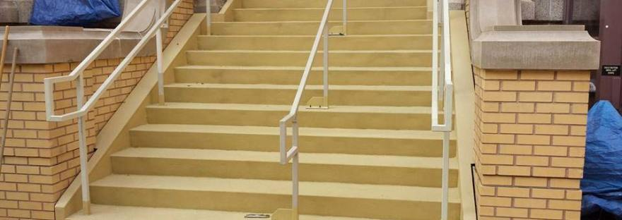 Non Slip Coating Entry Stairs