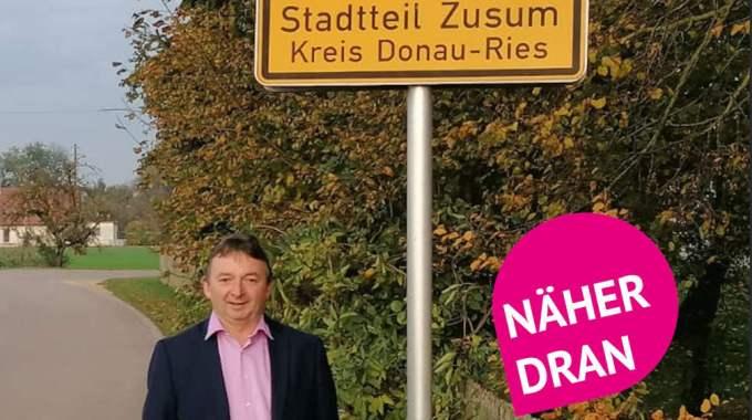 OB-Kandidat Albert Riedelsheimer Im Zusum