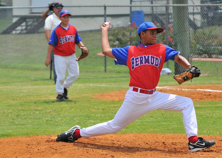 12 year old KJ pitching