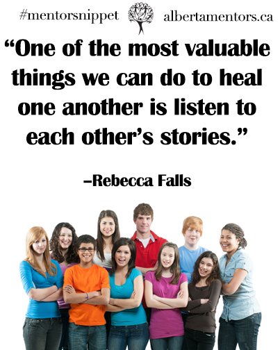 One of the most valuable things we can do to heal one another is to listen to each others stories