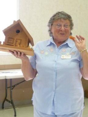 Gerald's birdhouse winner Sheila