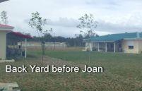 Back yard before Joan