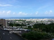 St. Denis, Reunion Island. Indian Ocean in the background