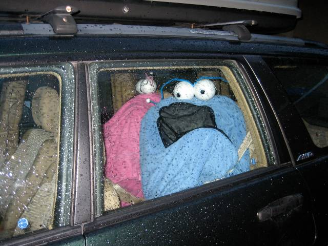 Sir? You've left your...children(?) in the car.