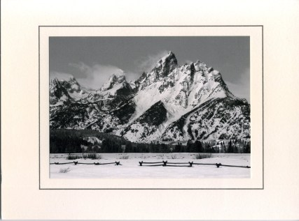 The front of Vice President Cheney's holiday card, featuring The Tetons in Jackson Hole, WY
