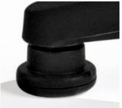 Riparazione sedia da ufficio: Set di 5 piedini fissi in nylon per poltrona da ufficio compreso istruzioni di montaggio in videochiamata (30 min.)