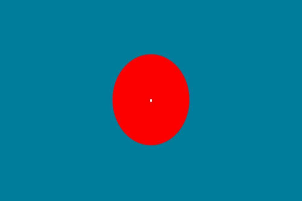 illusione ottica blu ciano
