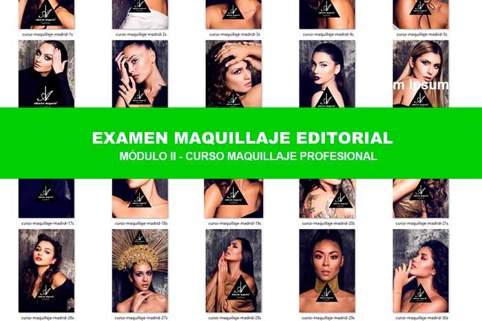 Así maquillan nuestros alumnos en el curso de Maquillaje Madrid .