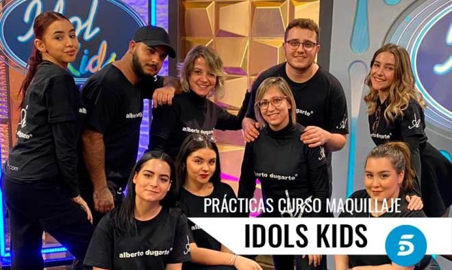 Alumnos en Práctica Maquillaje Telecinco curso Profeisonal