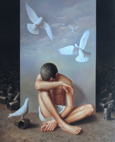 Dream of freedom. Oil on canvas 60×48 inches
