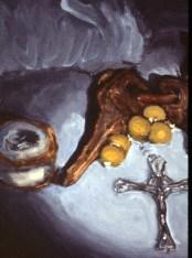 Detail Cross Rosary and Keys