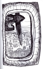 Sketchbook P 16 - Airplane - Out window