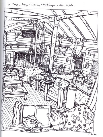 Sketchbook S 16 - El Tovar Lodge, Grand Canyon, AR