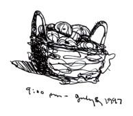 Sketchbooks K 1 - Basket of Sea Urchins, Dunkirk, NY
